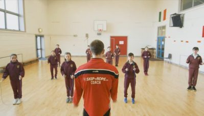 Skipping workshop with kids