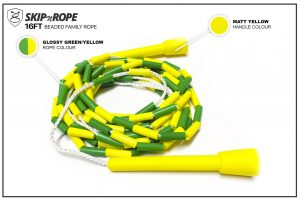 SKIPnROPE 16FT Beaded Family Rope Green Yellow