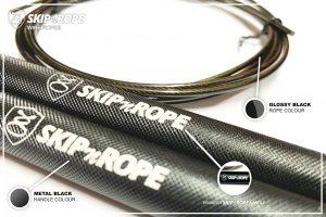 SKIPnROPE Wire Rope Black