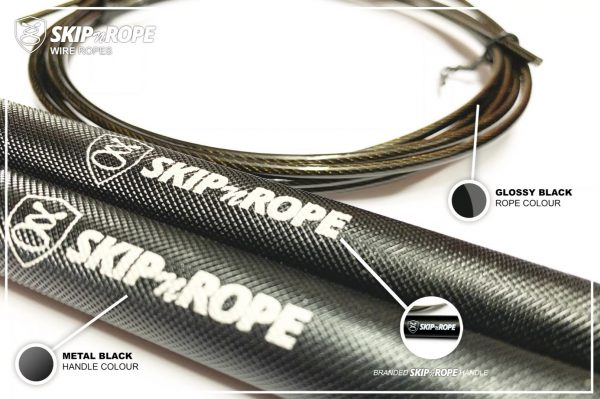 SKIPnROPE Wire Rope Black